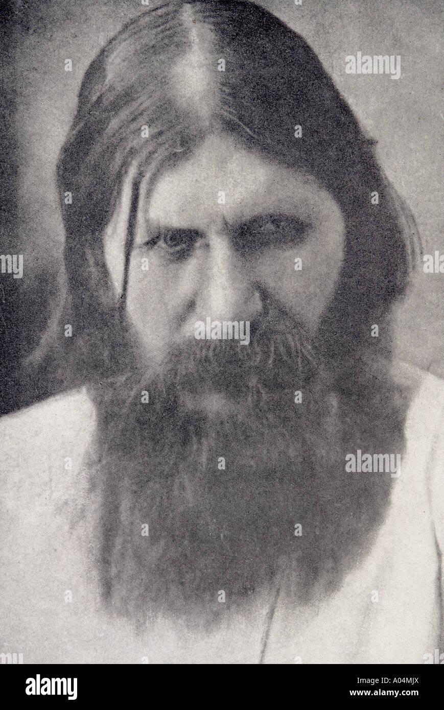 Grigory Yefimovich Rasputin 1872 to 1916 1872 1916 Russian mystic - Stock Image