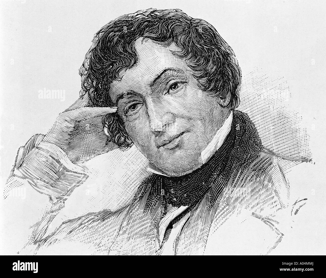 Washington Irving 1783 to 1859 American author known as First American Man of Letters - Stock Image