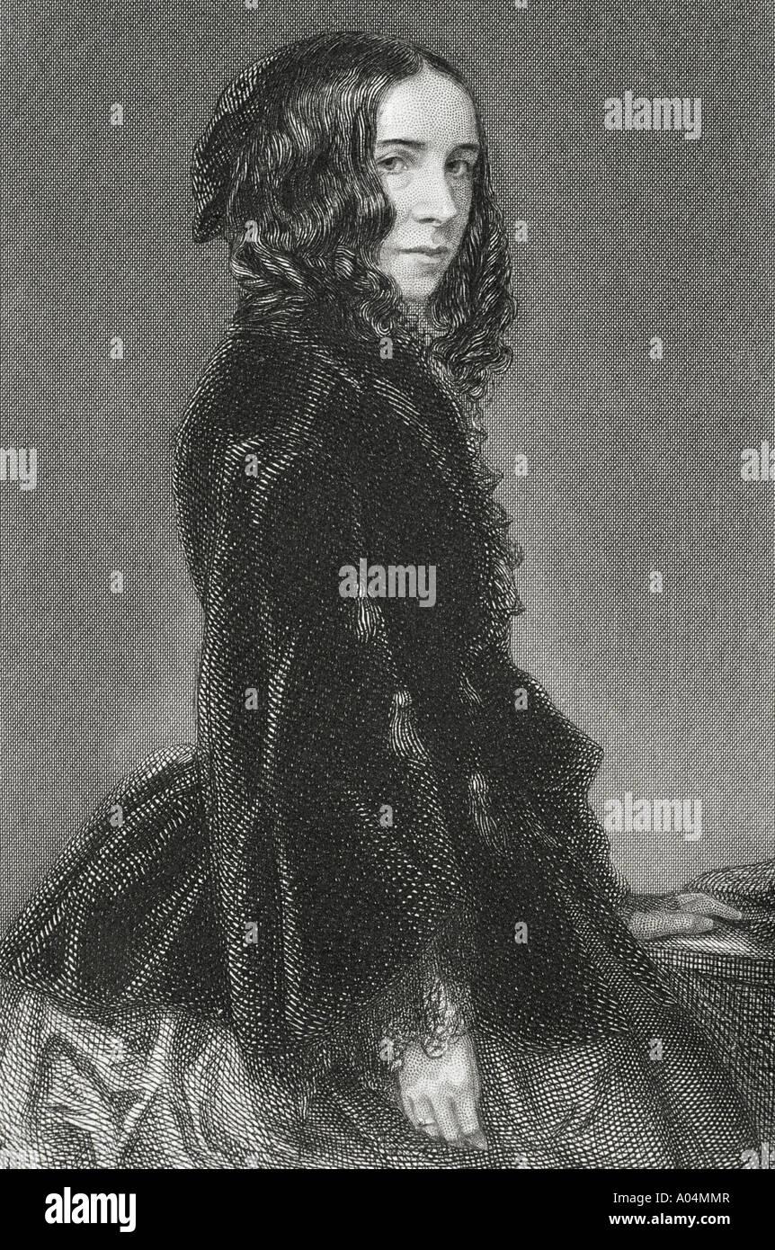 Elizabeth Barrett Browning, 1806 - 1861. English poetess and feminist - Stock Image