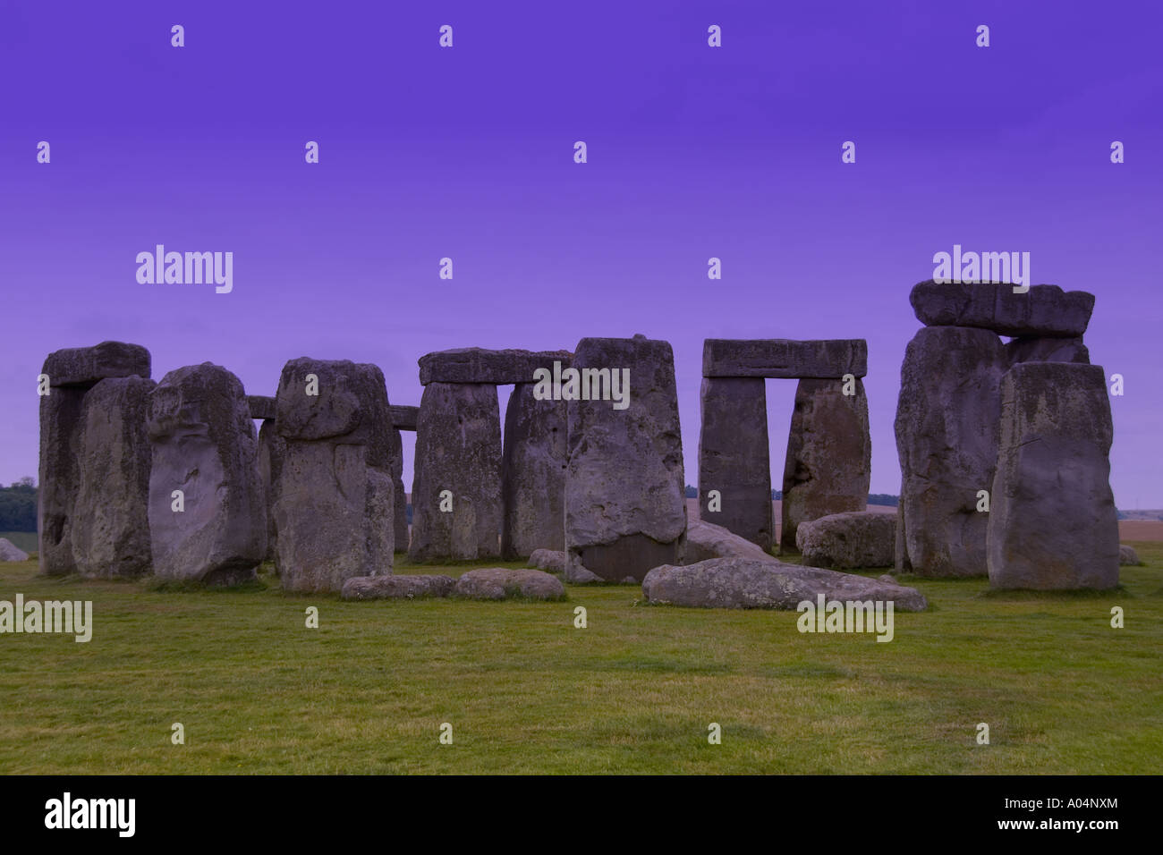 The world famous Stonehenge monument in England Great Britian - Stock Image