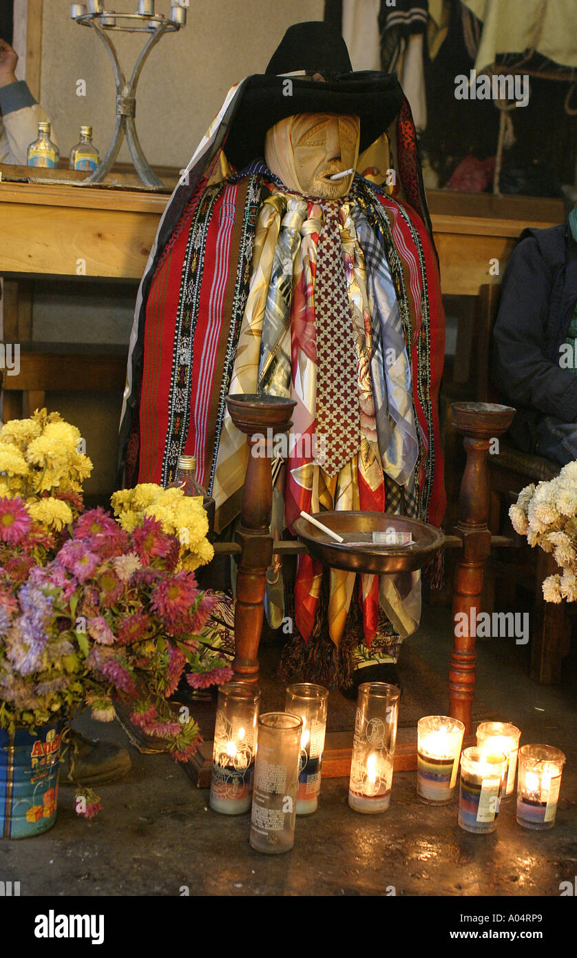 Guatemala. Santiago Atitlan. Maximom idol - Stock Image