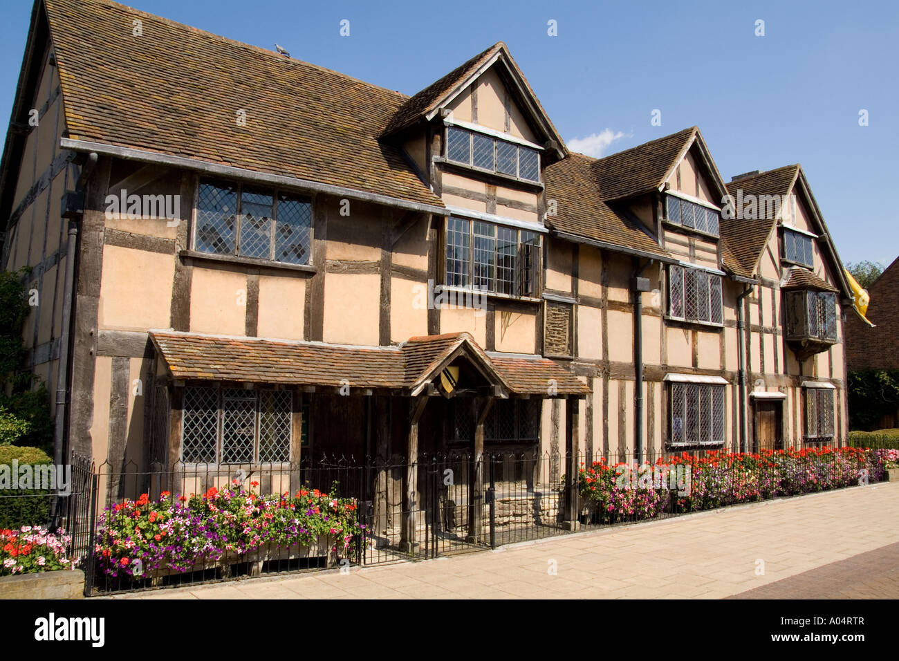 House Of Famous Writer William Shakespeare In Stratford Upon Avon The West Midlands Great Britian England