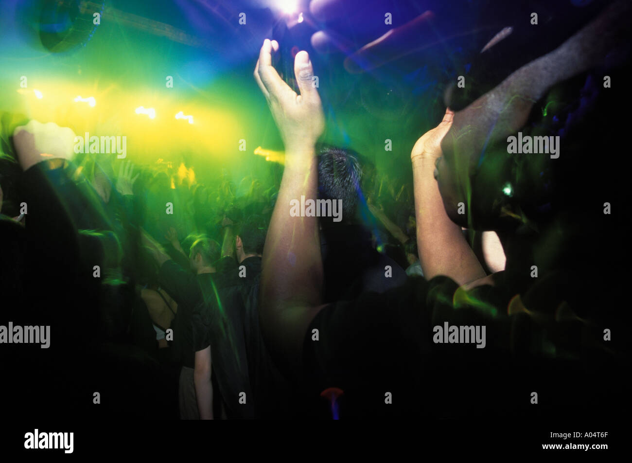 Dancefloor at Gods Kitchen The Sanctuary night club Birmingham - Stock Image