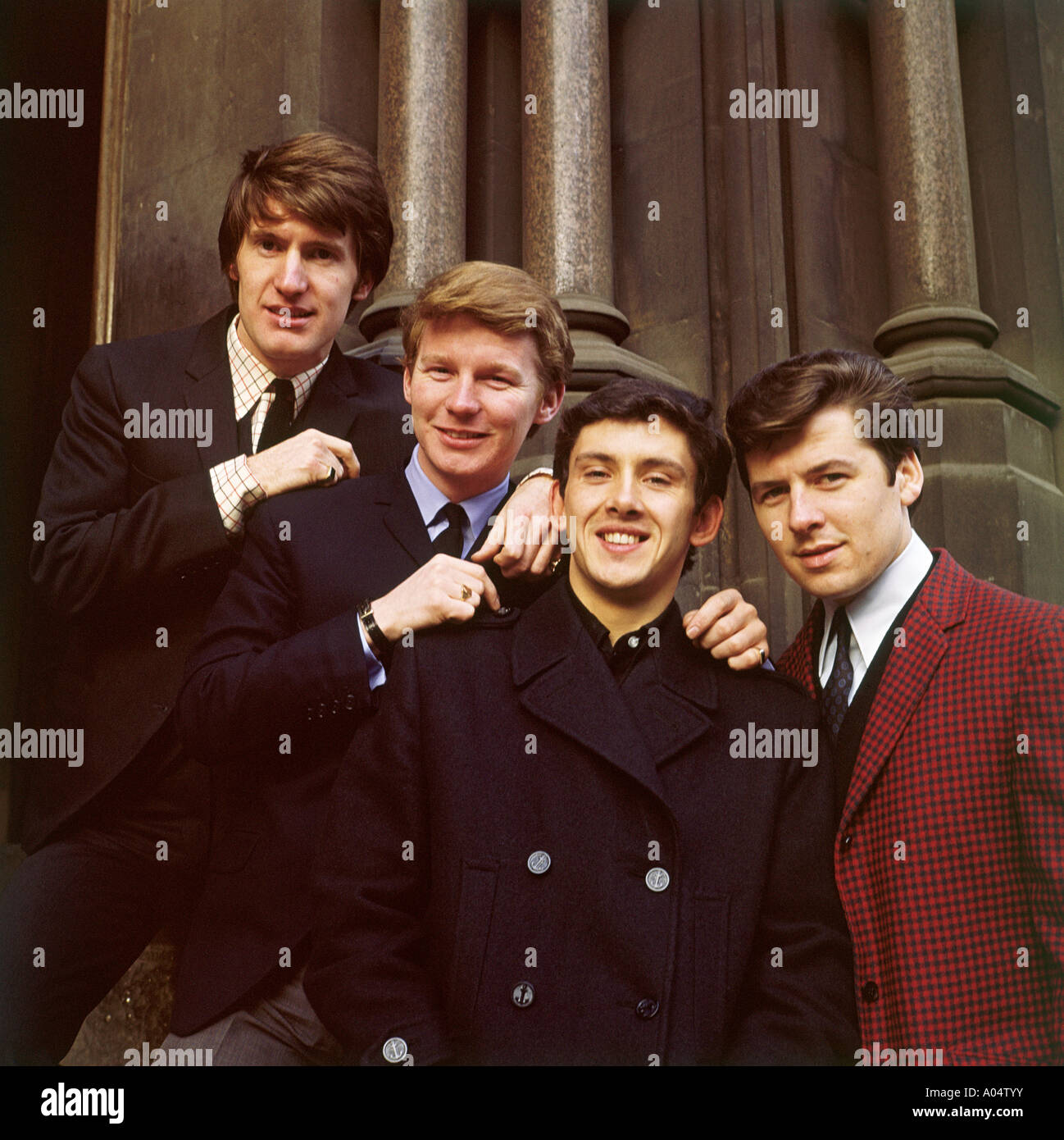SEARCHERS UK pop group in 1965. See Description below for names. Photo Tony Gale - Stock Image