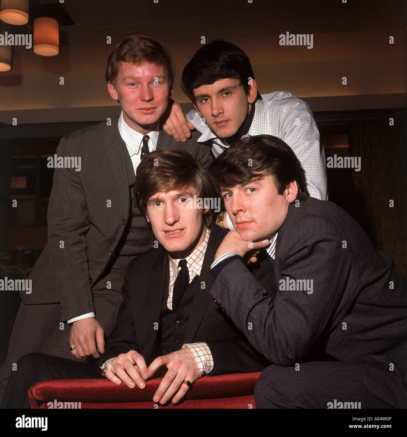 SEARCHERS UK pop group in 1964. See Description below for names. Photo Tony Gale - Stock Image