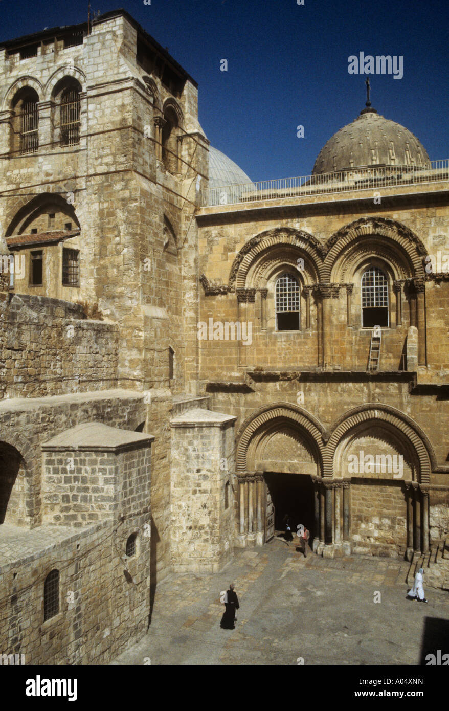 Entrance to the Church of the Holy Sepulchre in Jerusalem - Stock Image