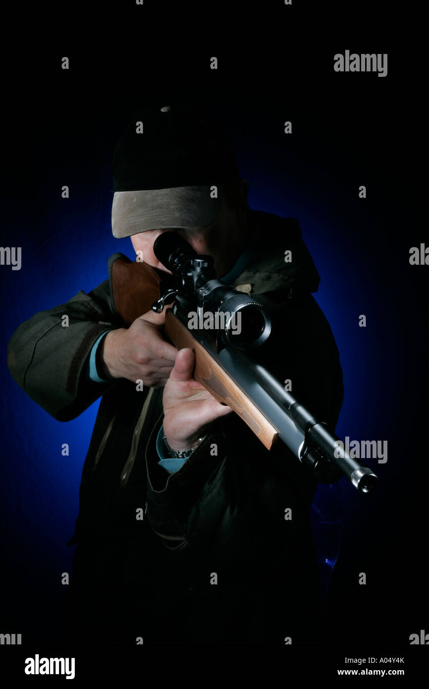 sniper or marks man - Stock Image