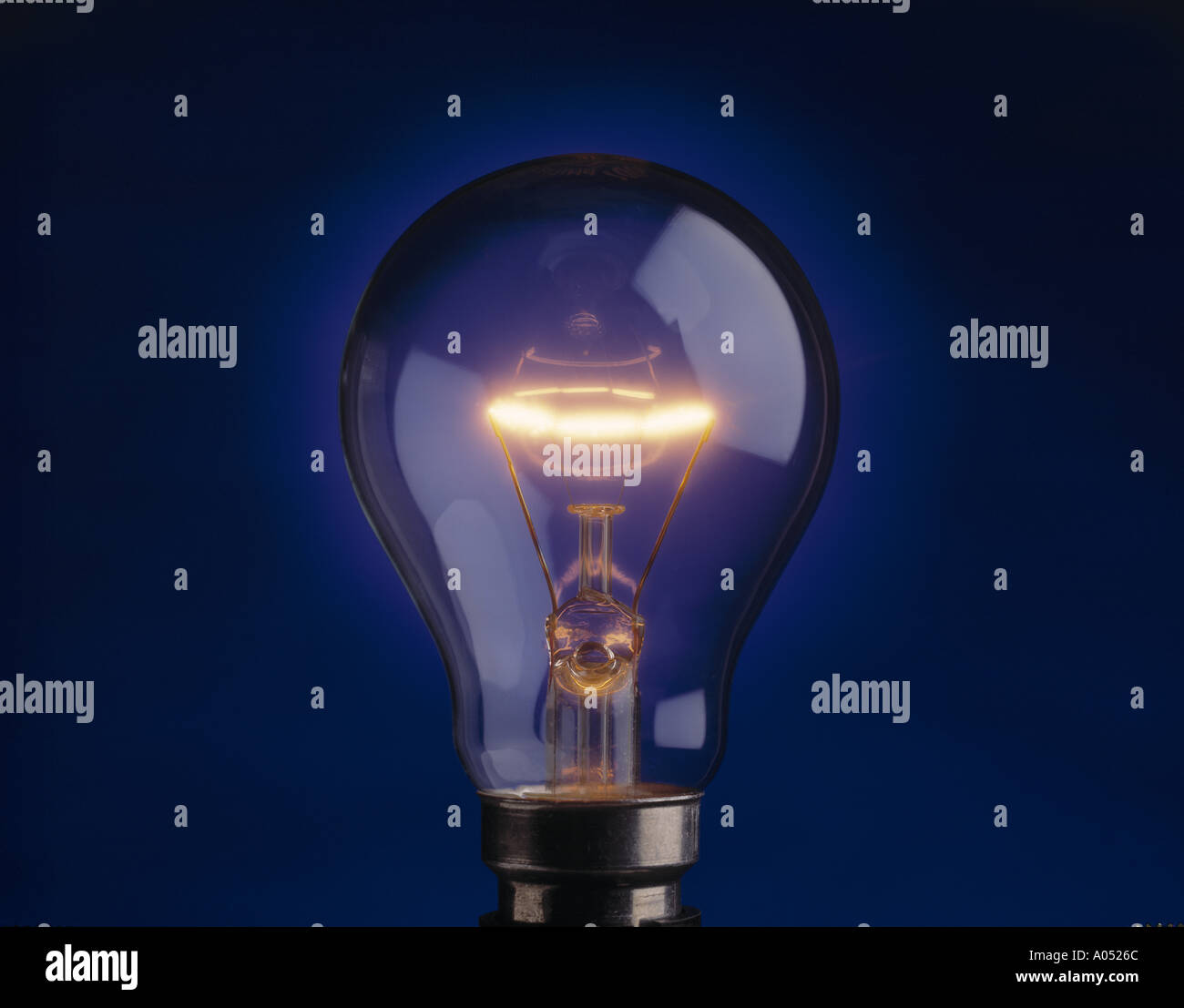 Light bulb, close up Stock Photo