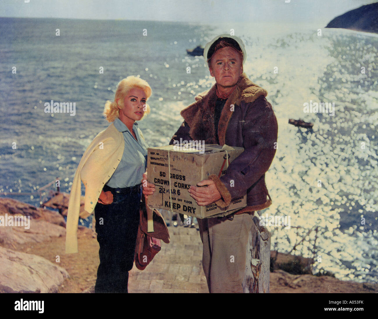 ACTION OF THE TIGER 1957 MGM film with Van Johnson and Martine Carol - Stock Image