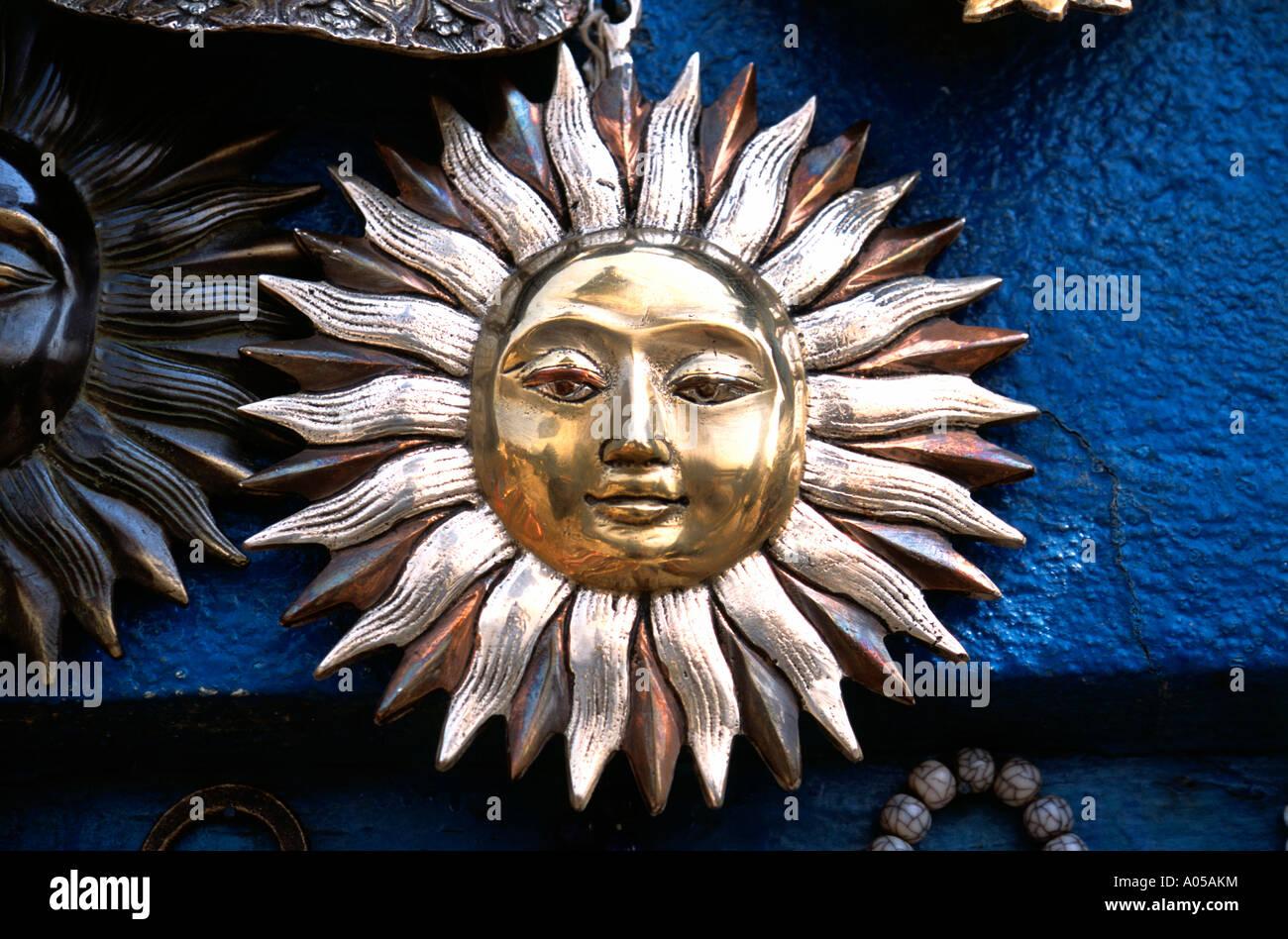 Kathmandu, Handicraft, Sun Motif - Stock Image