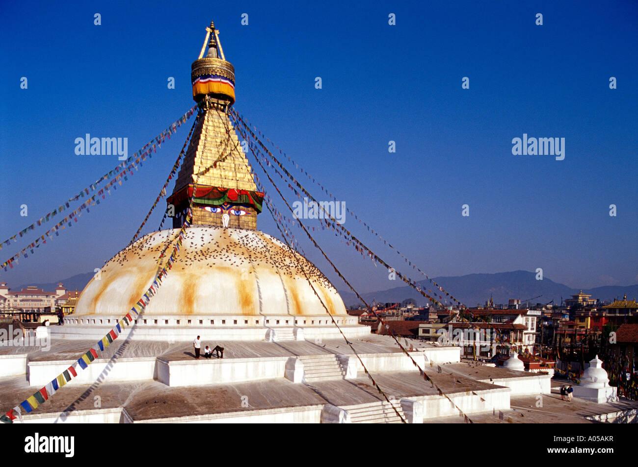 Kathmandu, Bodnath Stupa, Day - Stock Image