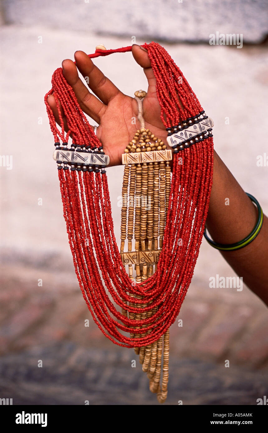 Kathmandu, Handicraft, Necklace - Stock Image
