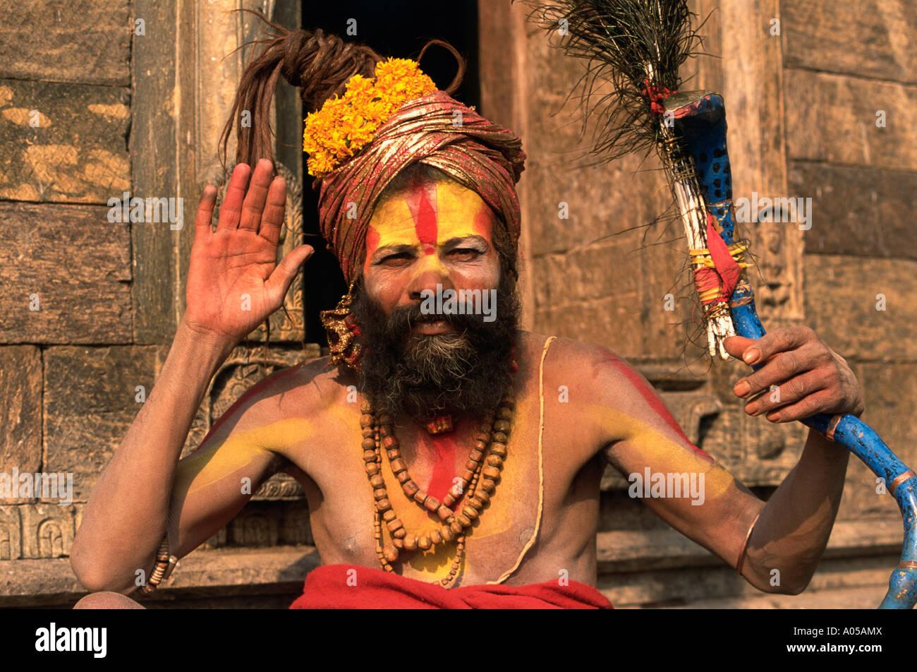 Kathmandu, Holyman, Sadhu, Day - Stock Image