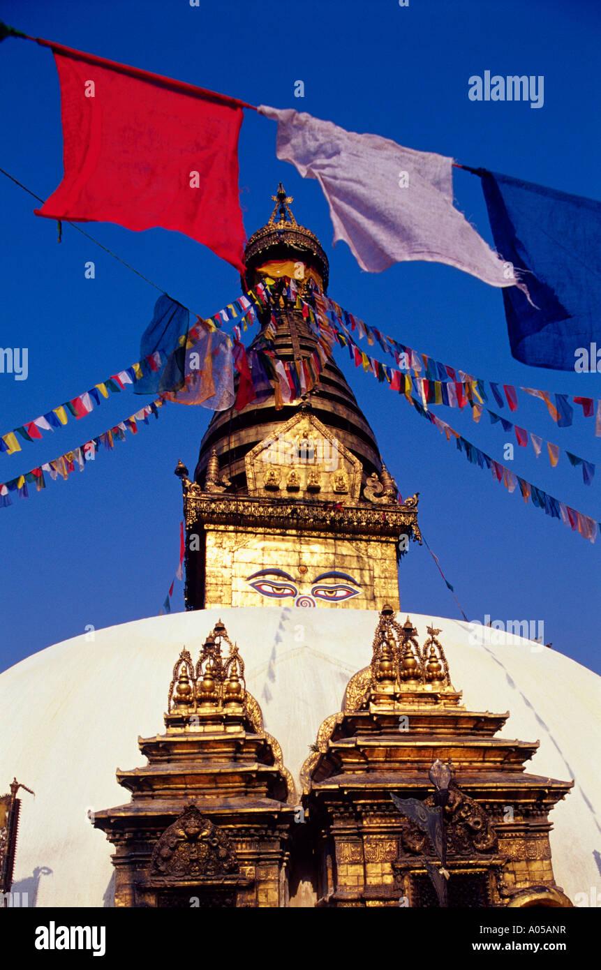 Swayambhunath Stupa, Day - Stock Image