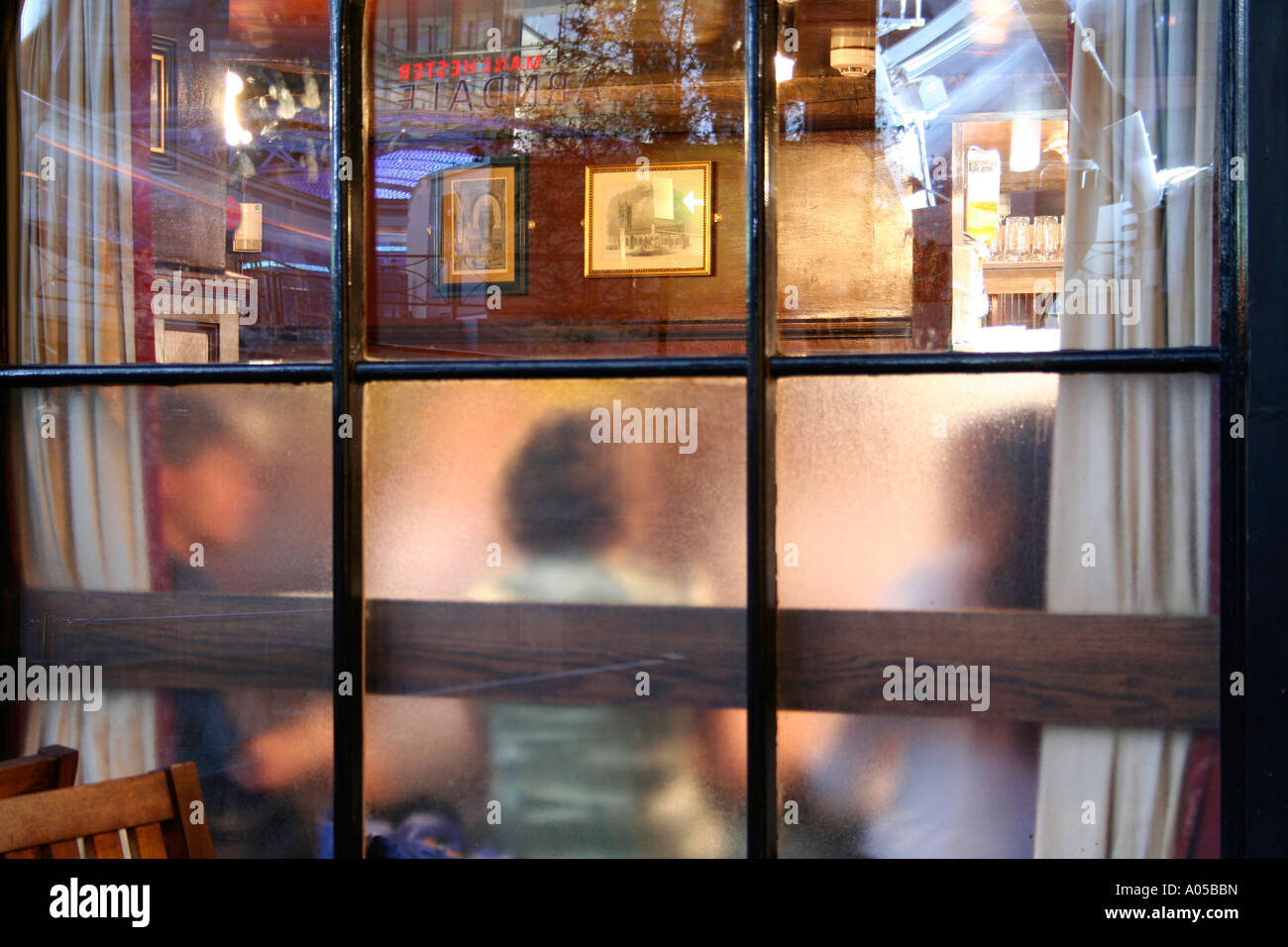 Pub interior, Manchester, UK - Stock Image
