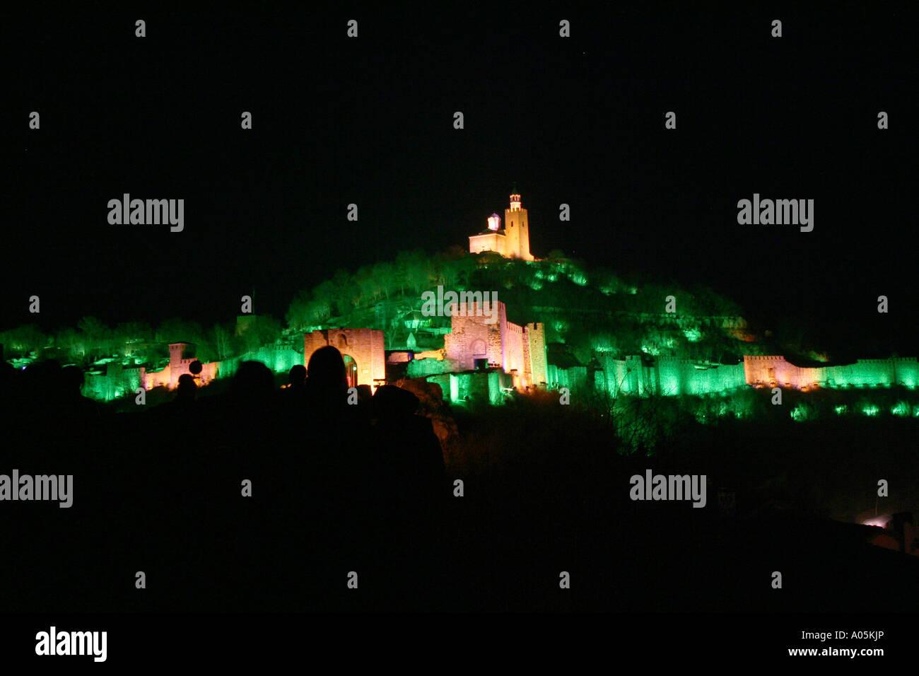 Bulgaria Veliko Tarnovo Carevec the old town luminous feast - Stock Image