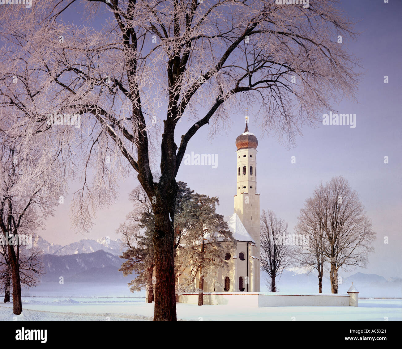 DE - BAVARIA: St Coloman near Schwangau - Stock Image