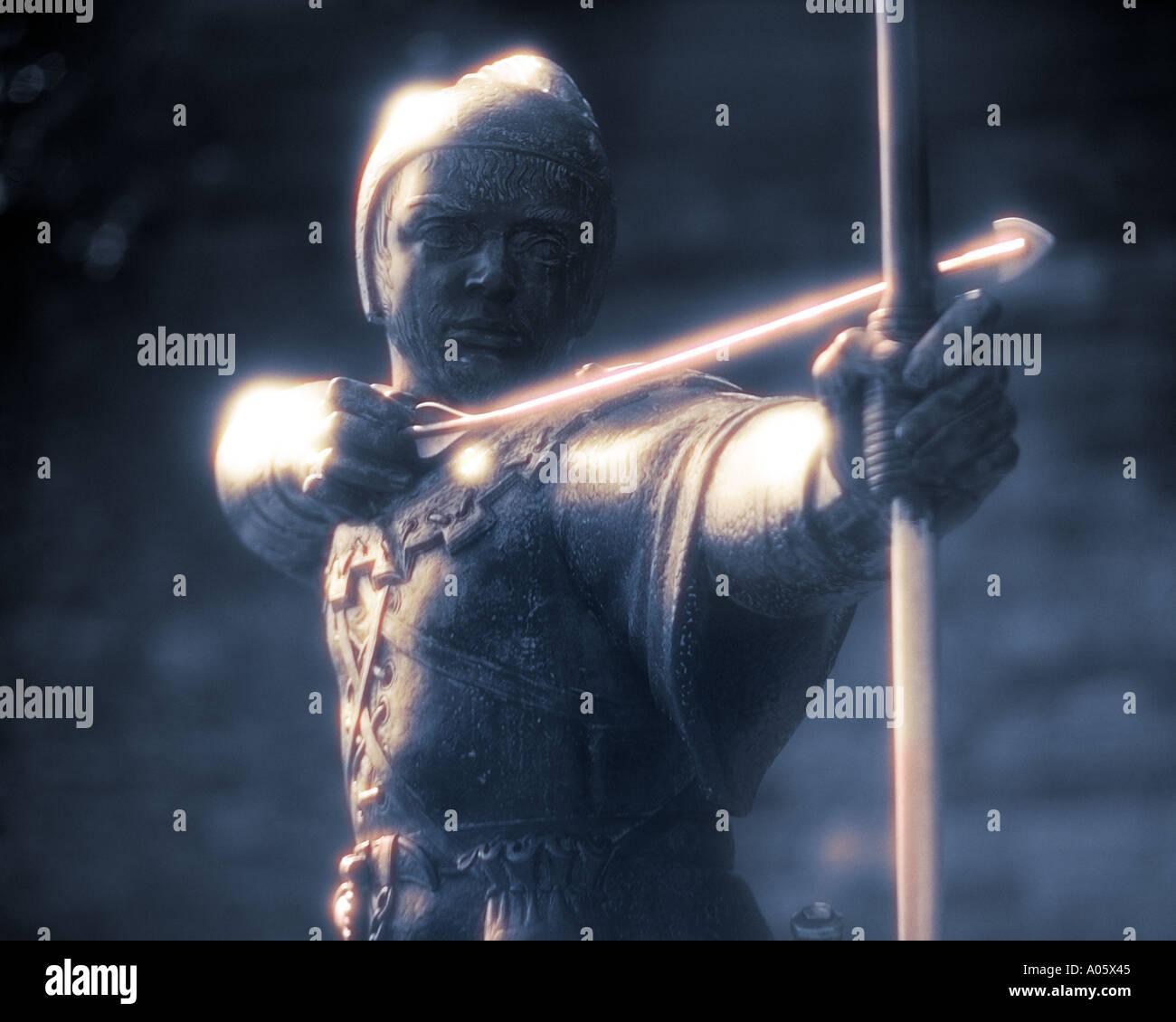 GB - NOTTINGHAM: Robin Hood Statue - Stock Image