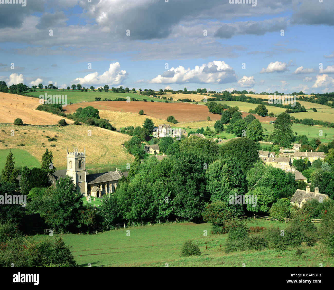 GB GLOUCESTERSHIRE Naunton village in the Cotswolds Stock Photo