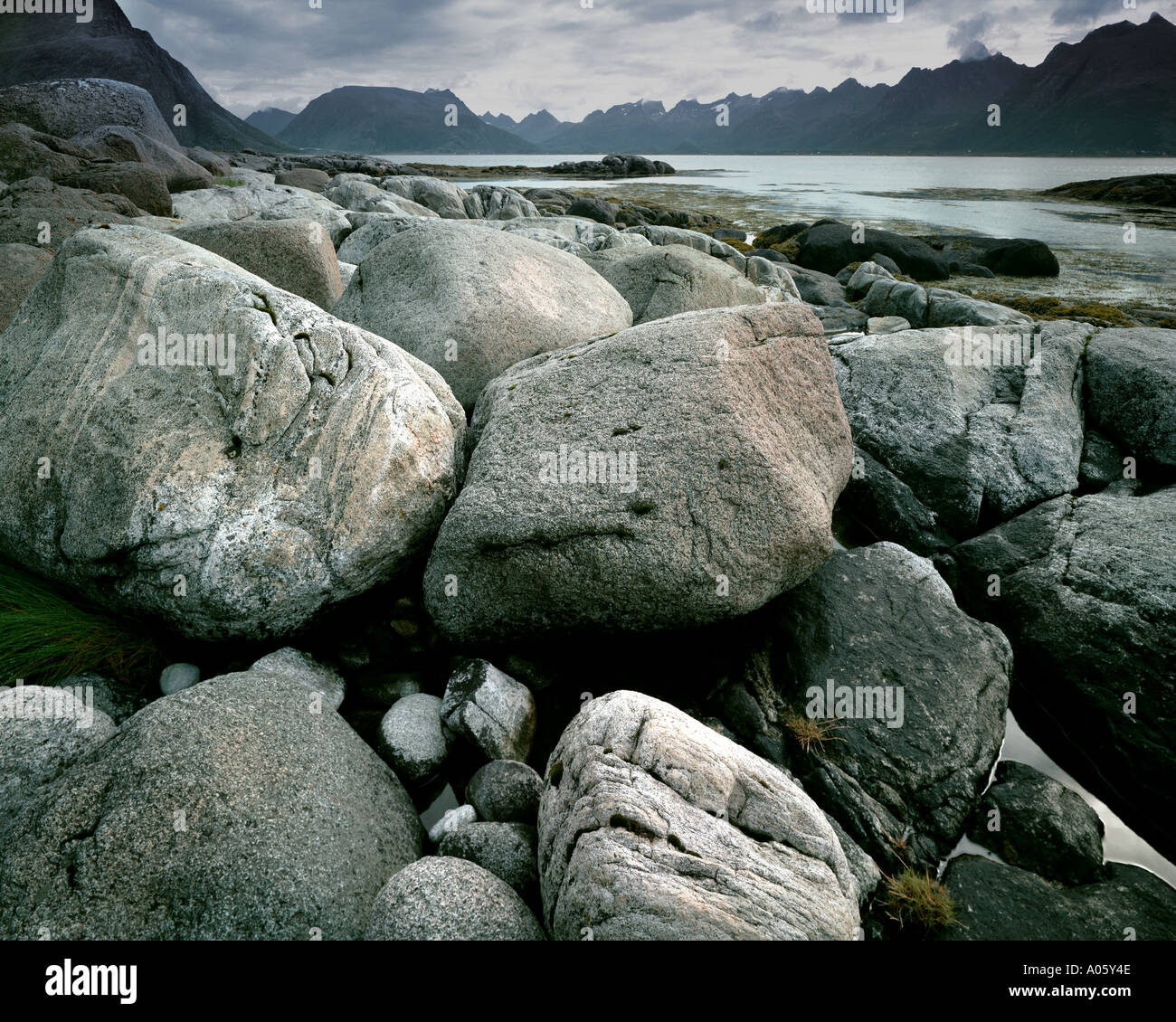 NO - LOFOTEN ISLANDS: Henningsvaerstraumen Stock Photo