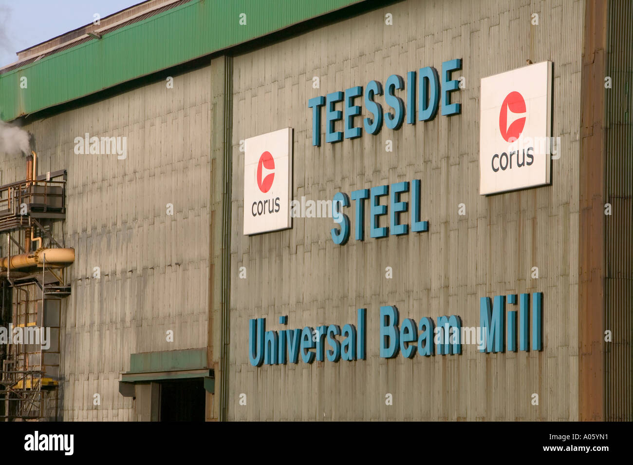 The Corus steelworks at Redcar, teeside, England - Stock Image