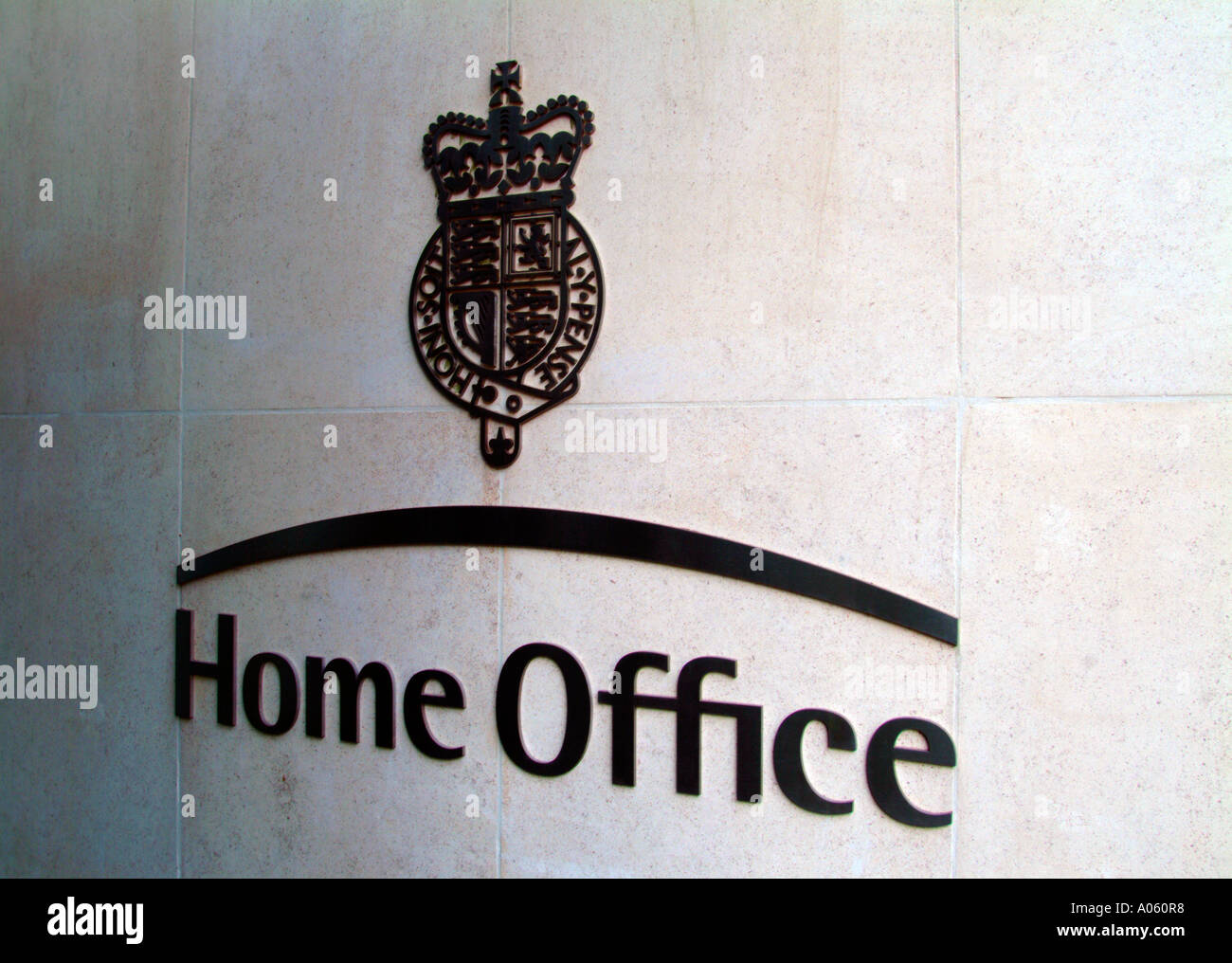 Home Office logo on wall of the Home Office, London, UK Stock Photo ...