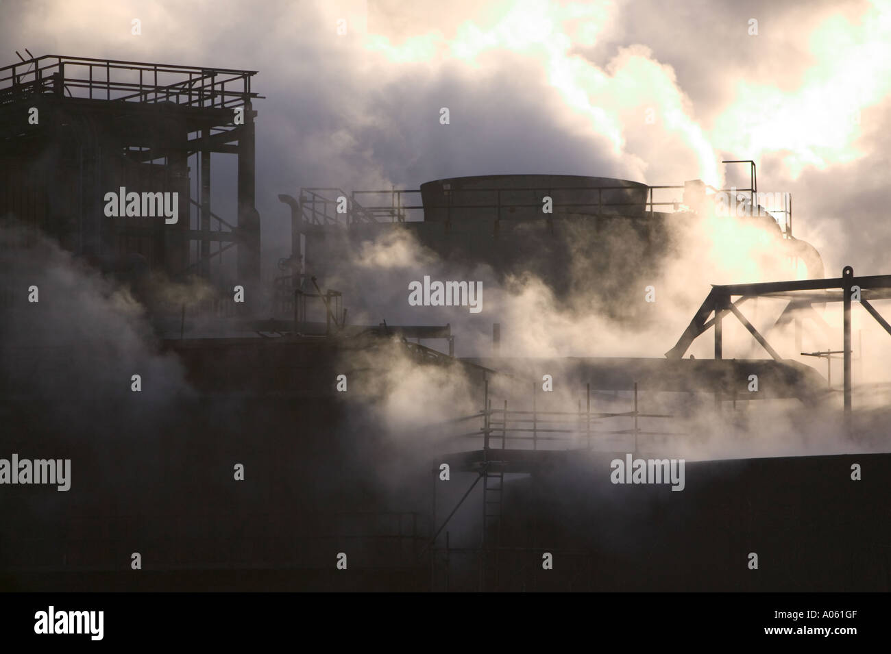 Emmissions from the Corus steel works, Teeside, England - Stock Image