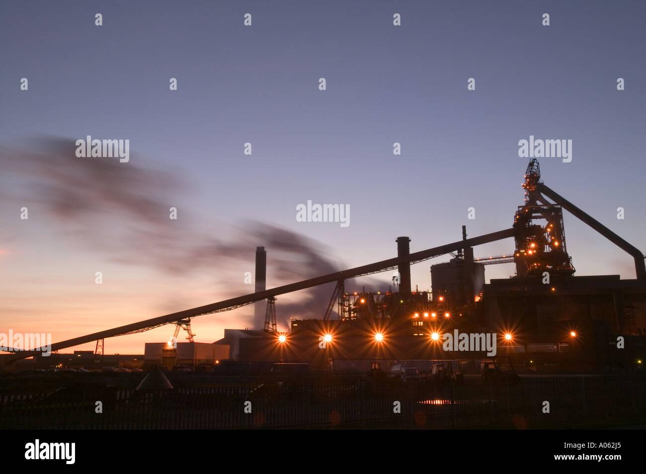 Corus steel works on Teeside, - Stock Image