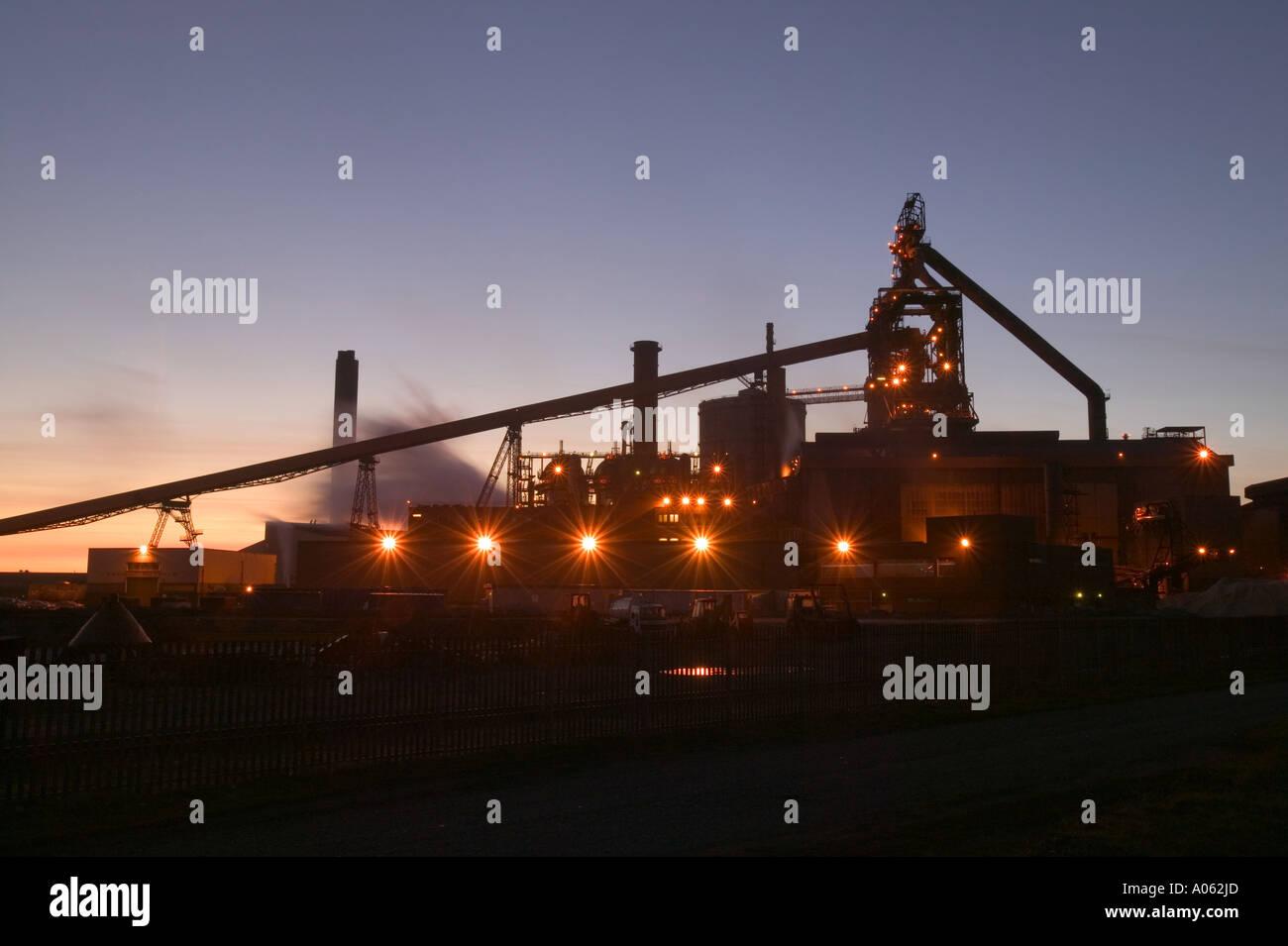 Corus steel works on Teeside, England - Stock Image