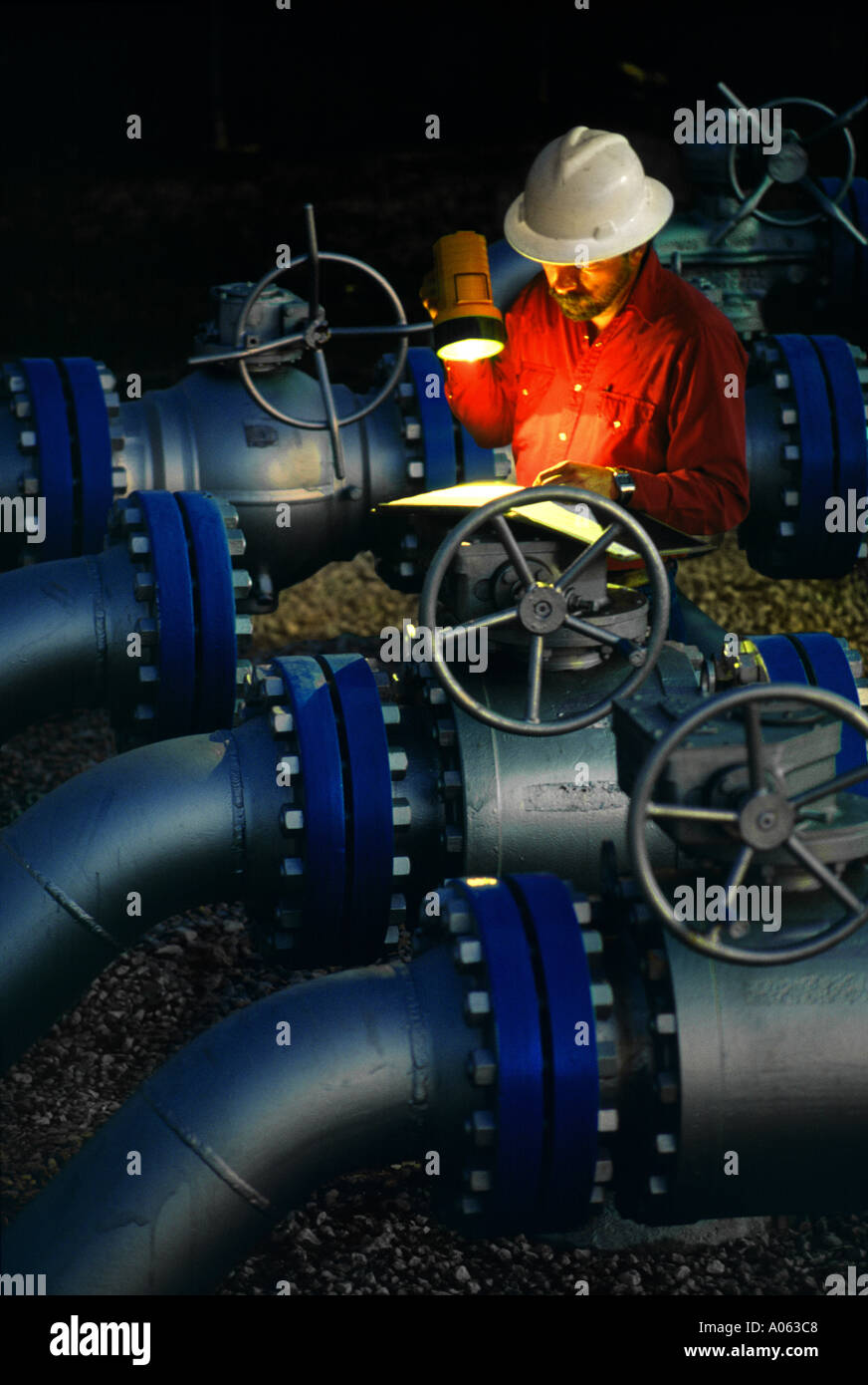 gas, pipe line, oil, - Stock Image