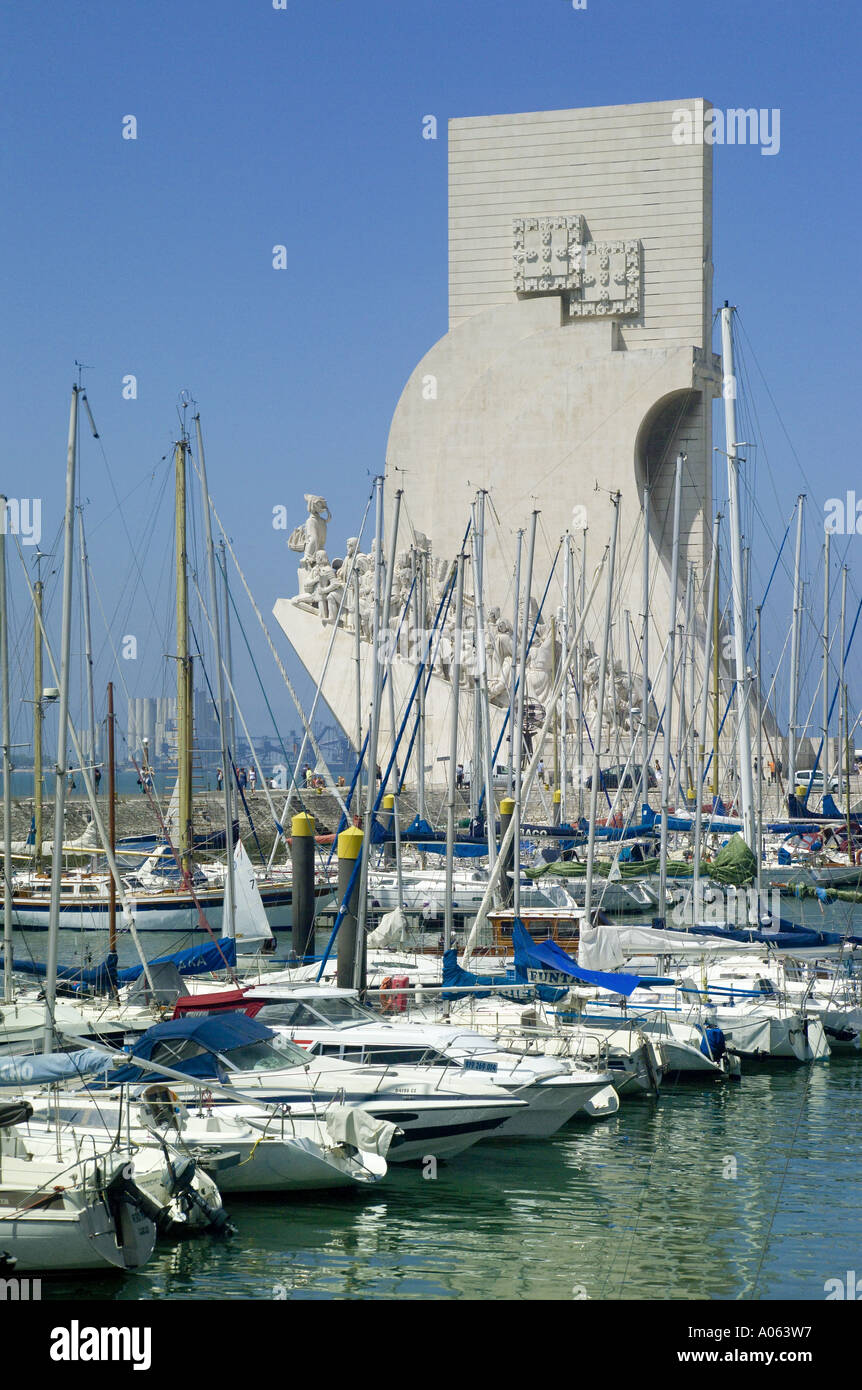 Lisbon, Belém, Monument To The Discoveries - Stock Image