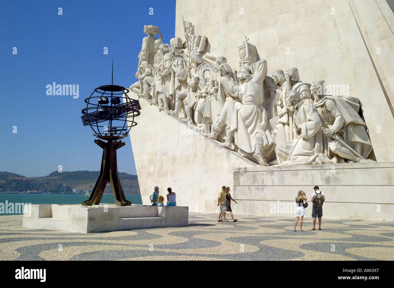 Lisbon, Monument To The Discoveries ( Padrão dos Descobrimentos ) - Stock Image