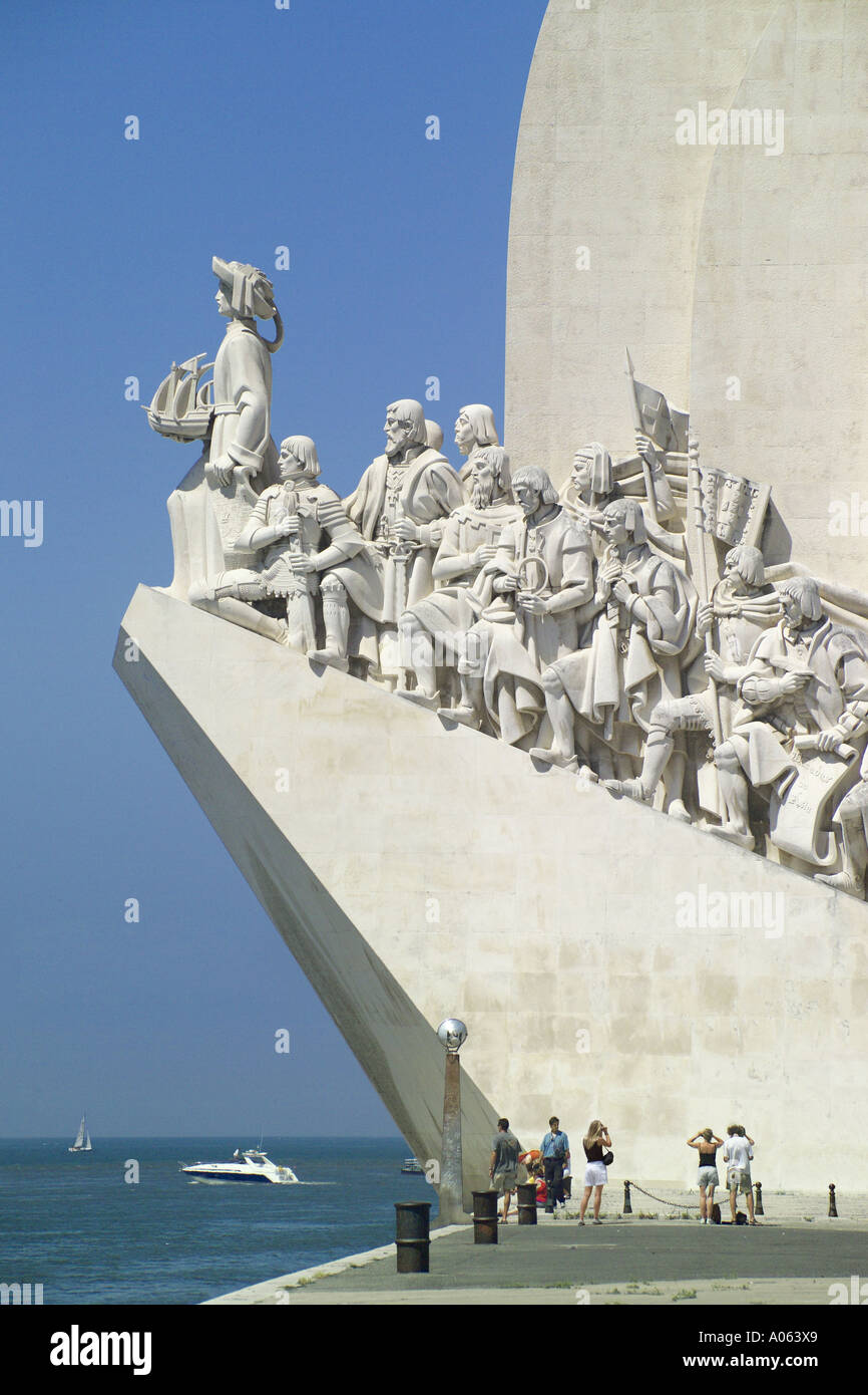 Lisbon, Monument To The Discoveries - Stock Image