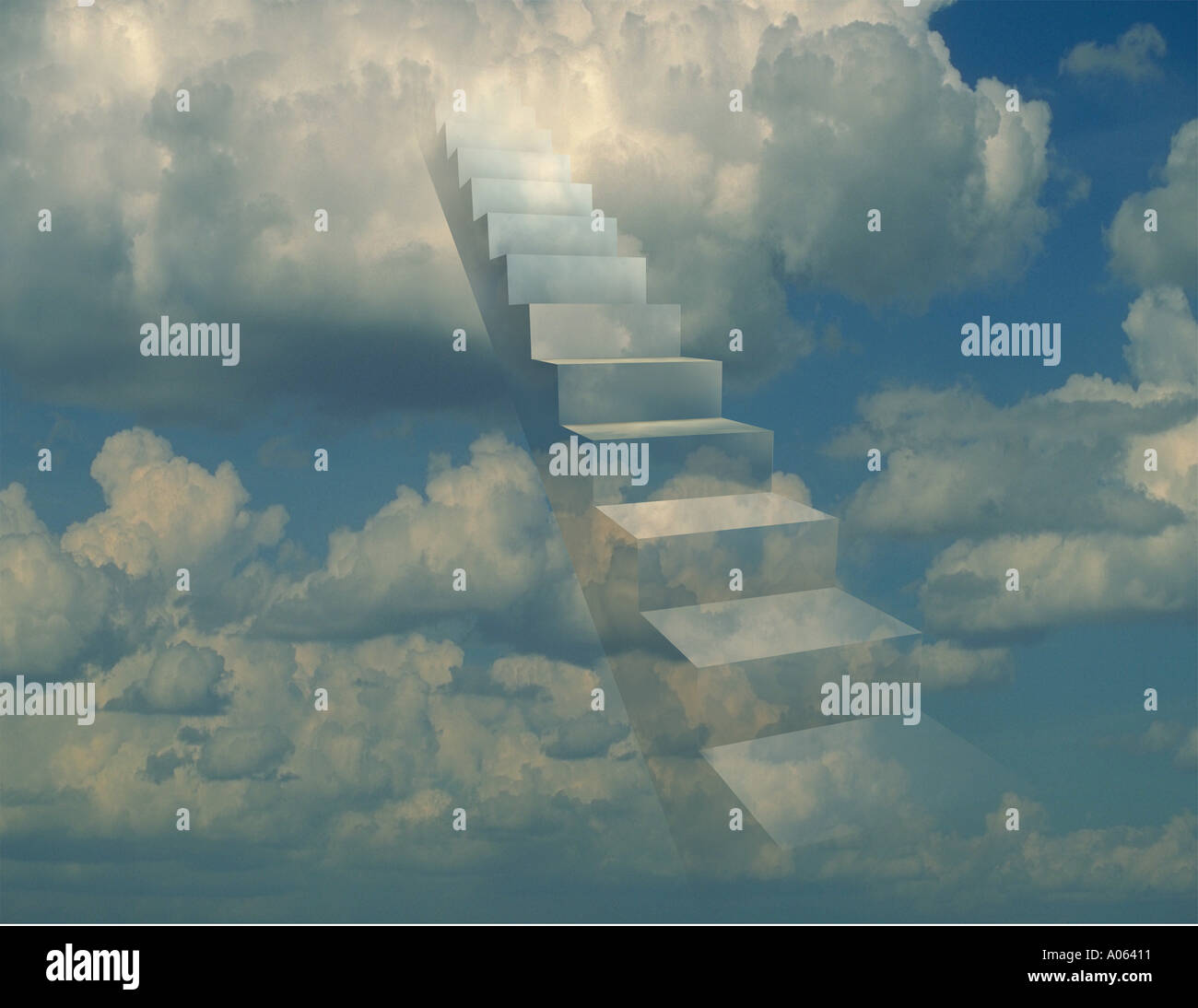 stairway to the clouds - Stock Image