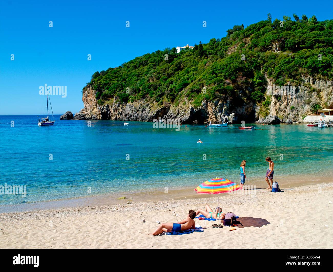 Corfu Island, Paleokastritsa Beach - Stock Image
