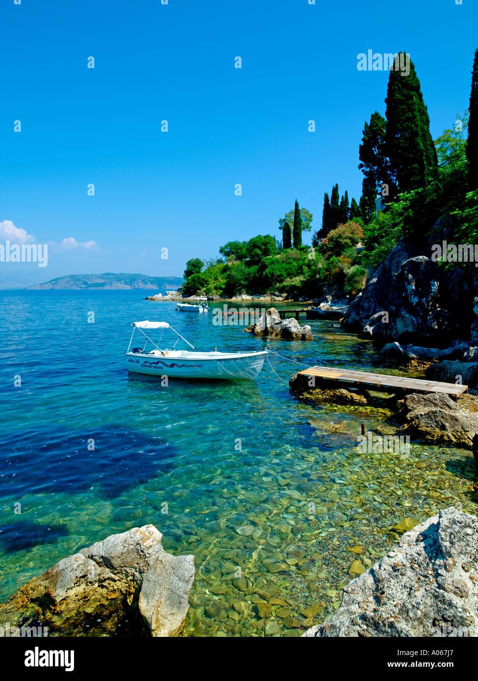 Corfu Island, Agni - Stock Image