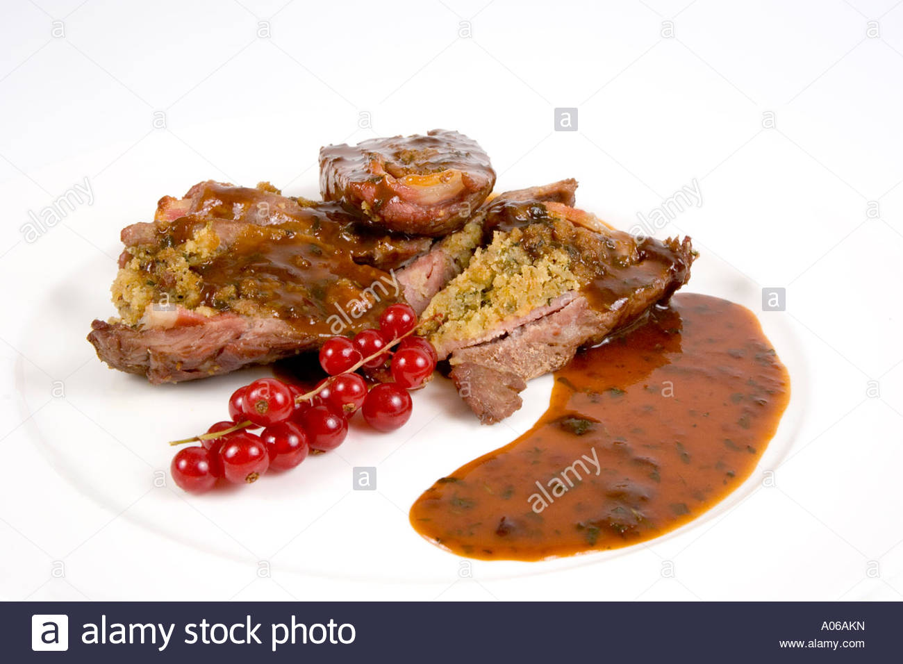 lamb with cranberries - Stock Image