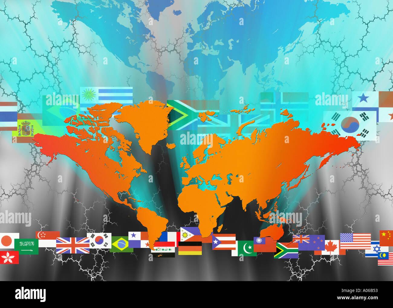 World flags stock photos world flags stock images alamy world map world flags stock image gumiabroncs Choice Image