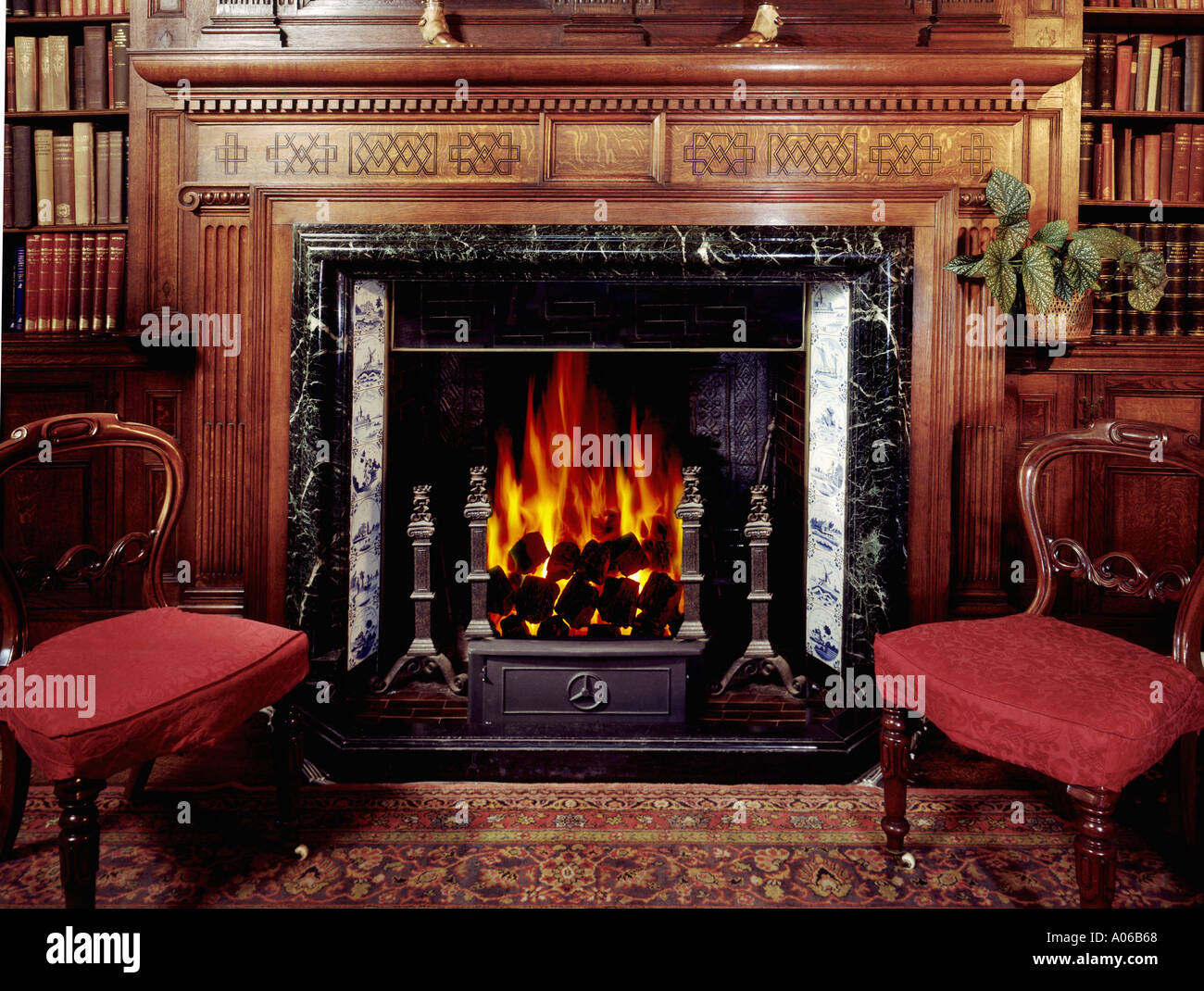 Grand Old Fireplace In British Country House Stock Photo 27496 Alamy