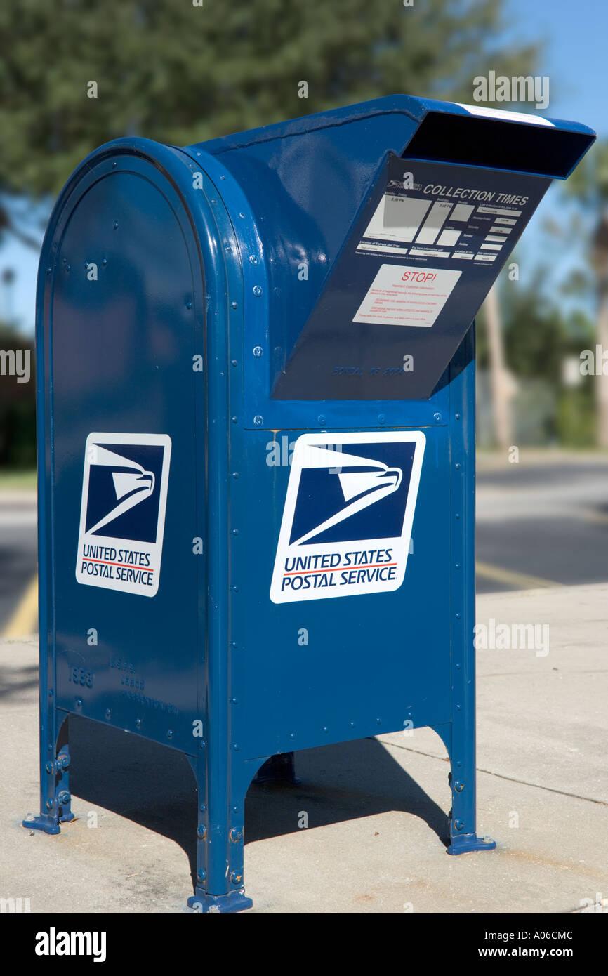 Mail Box, Unites States Postal Service, Haines City, Florida, USA - Stock Image