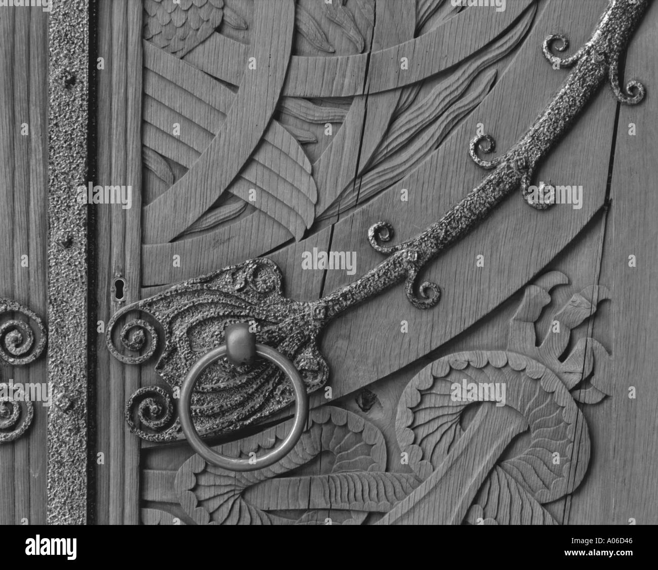 Church door - Stock Image