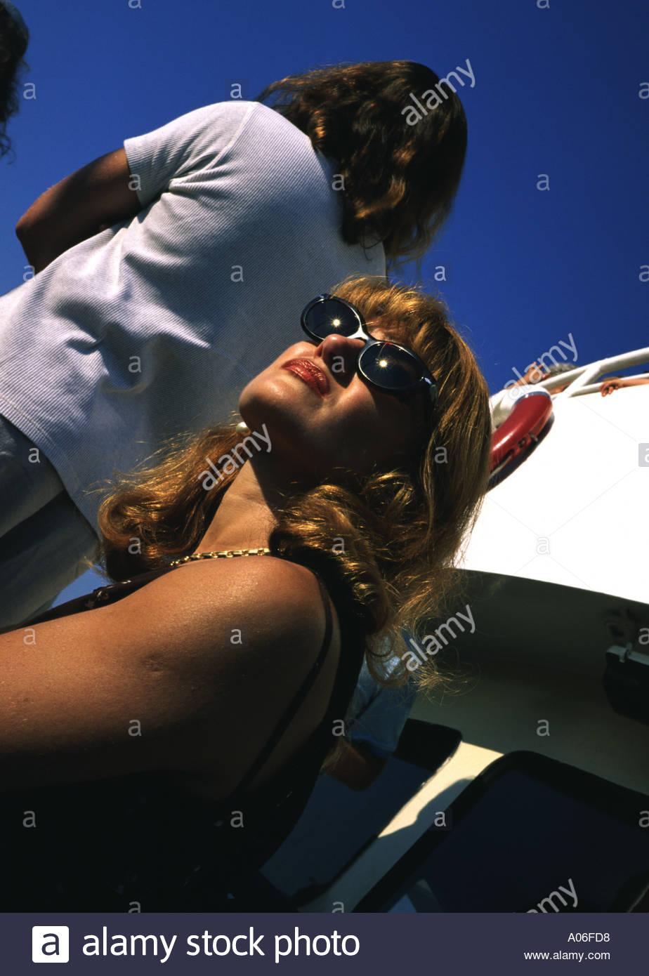 Ritratto su un traghetto  Venezia  Italia - Stock Image