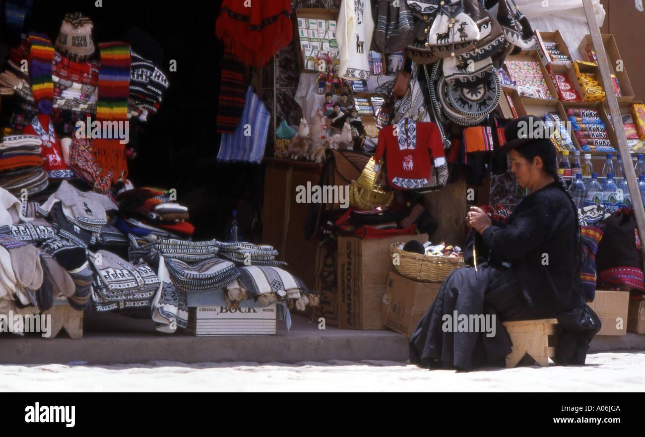 Bolivian Craft Market - Stock Image