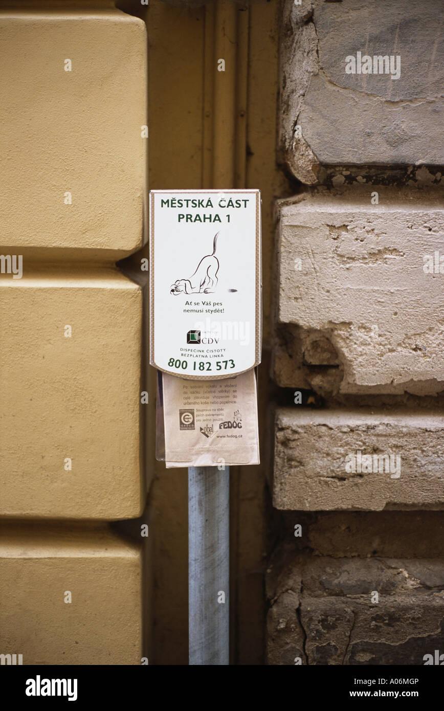 Free Doggy do bags Prague - Stock Image
