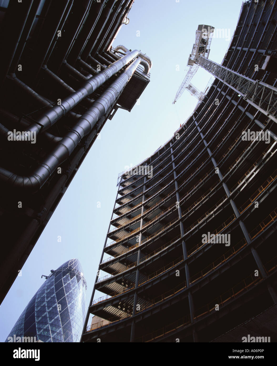 Willis Building under construction 51 Lime Street City of London - Stock Image