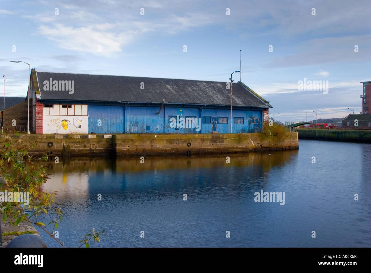 Old port facility warehouse buildings Dundee Tayside, Scotland,  UK - Stock Image