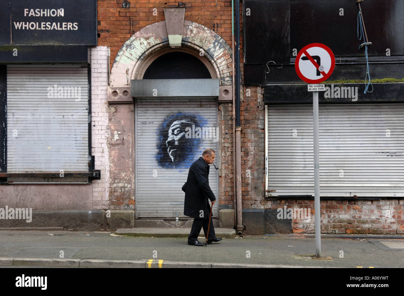 Copyright Photograph by Howard Barlow MANCHESTER IN THE NORTHERN QUARTER Stock Photo