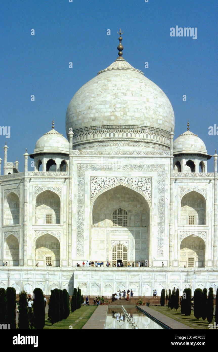 Taj Mahal Central Section, Rajasthan, India Stock Photo