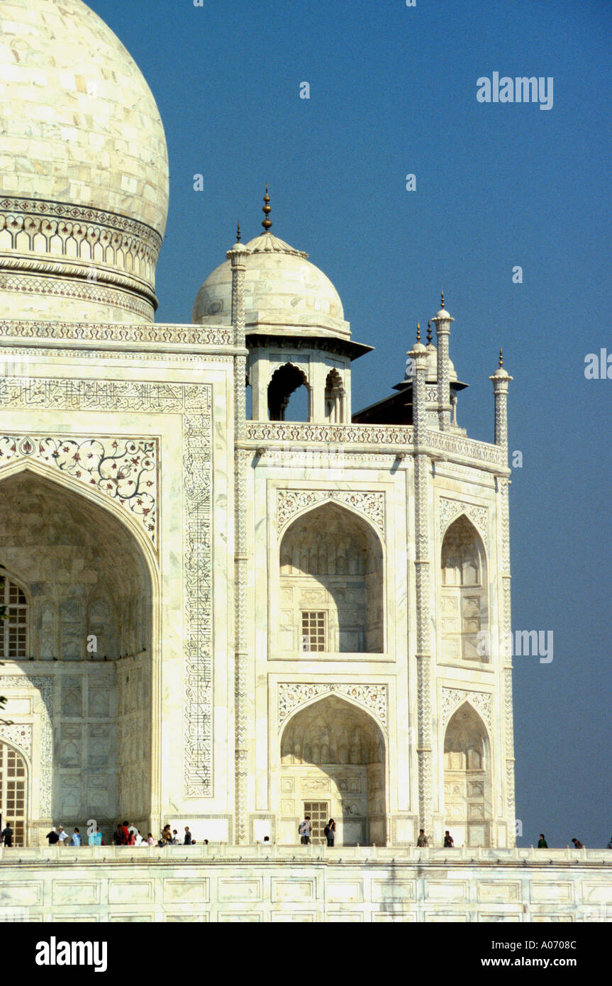 Taj Mahal - Right hand side detail, Rajasthan, India Stock Photo