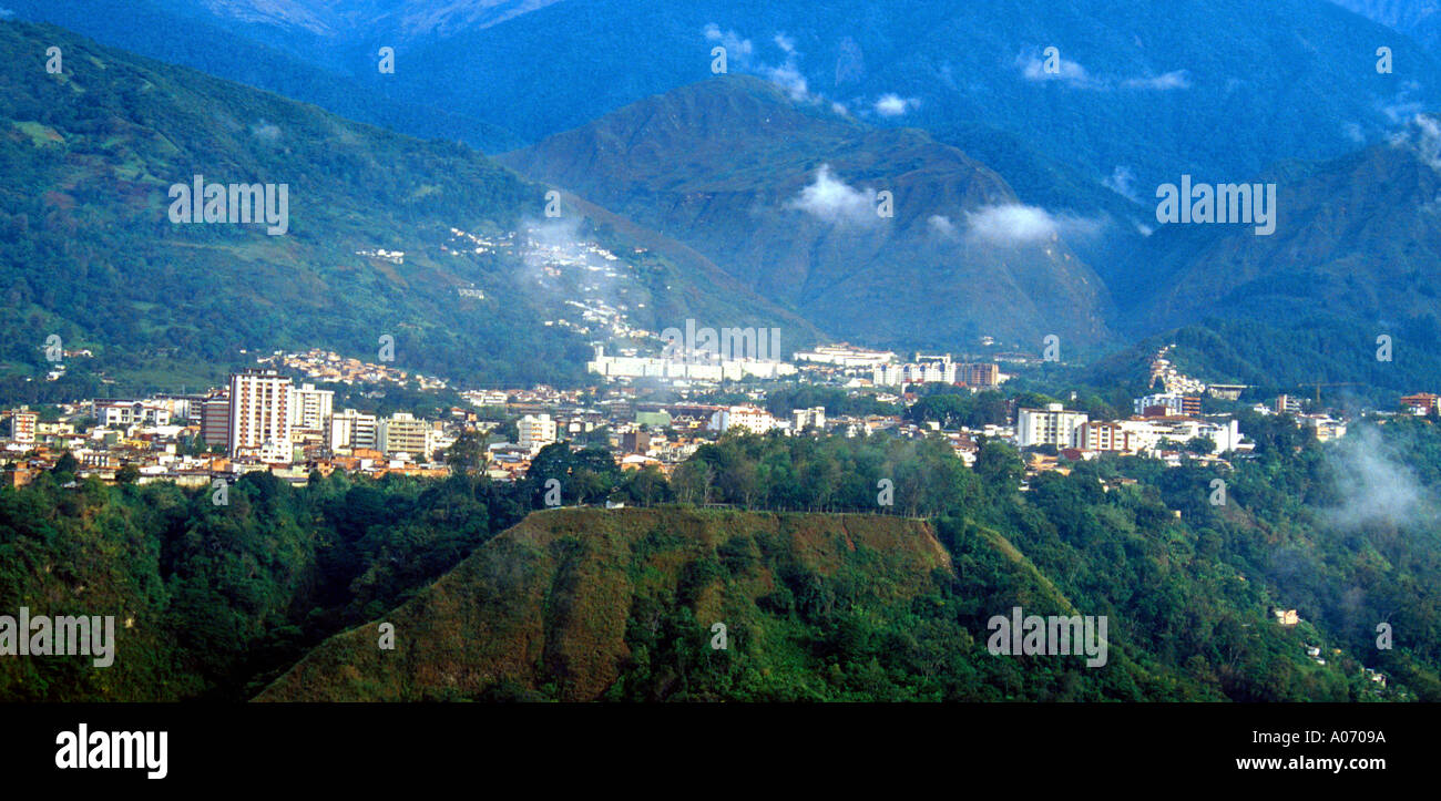 The City of Merida, Venezuela, from the Cable Car - Stock Image